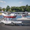 Cessna 182 Skylane with Aerocet amphibious floats.