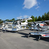 Saturday morning flight line at the Fish and Game hangar.