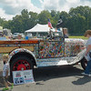 Old Ford painted with comic strip characters