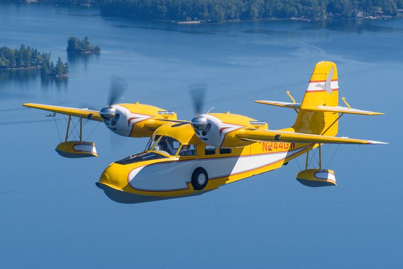 Grumman G44A Widgeon over Lake Winnipesaukee