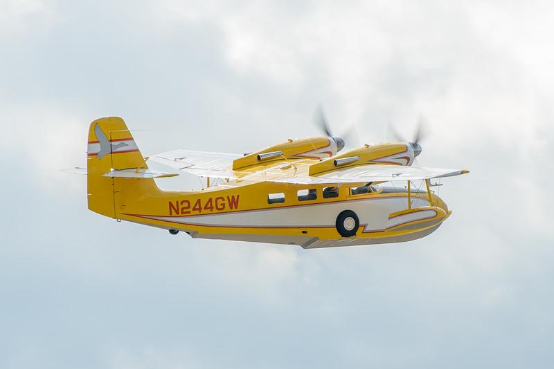 Grumman Widgeon N244GW over Lake Winnipesaukee.