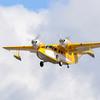 Grumman Widgeon N244GW landing at Laconia NH.