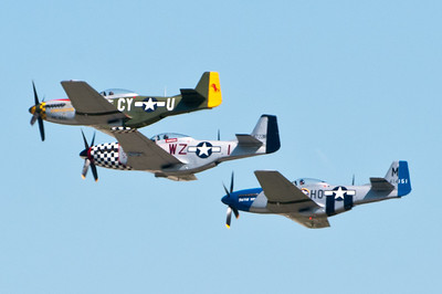 P-51 Mustangs in formation