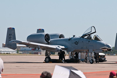 A-10 Thunderbolt (Warthog)...after flight maintenance.