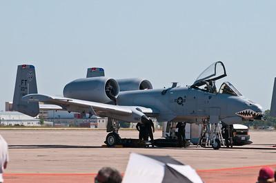 A-10 Thunderbolt (Warthog)...after flight maintenance.