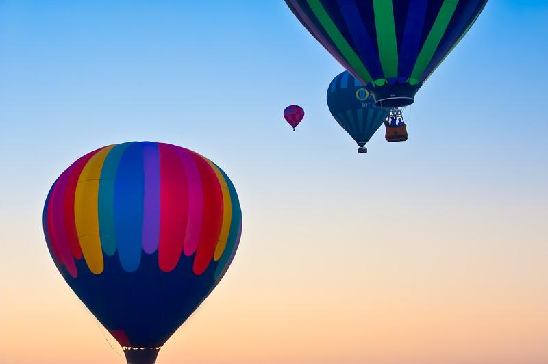 Chasing Balloons at dawn