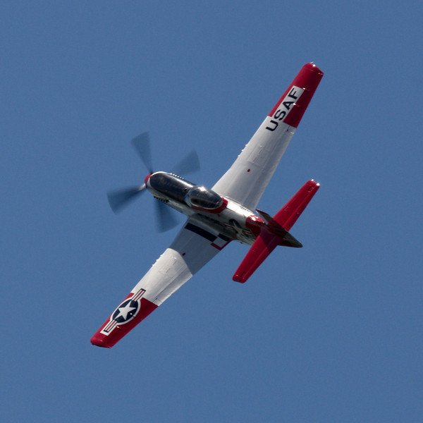"High speed pass finishing with an abrupt pull up into the sun... P51-D Mustang ""Val-Halla"" FF-525"
