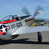 "About to eat a lot of grit, turn away next time! -- P51-D Mustang ""Val-Halla"" FF-525"