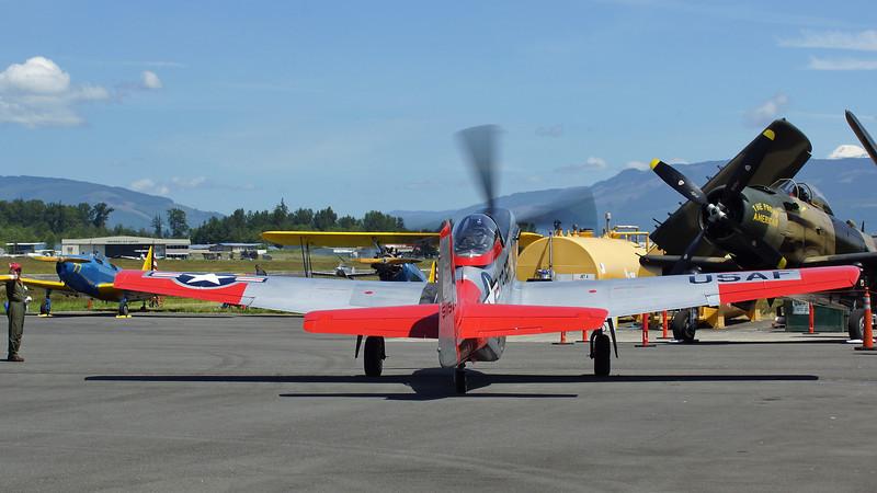 """Tight maneuvering  --   P51-D Mustang """"Val-Halla"""" FF-525"""