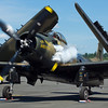"Unable to fly today - tarmac demo ony.  A-1 Skyraider ""The Proud American"""