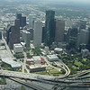downtown Houston looking Southeast