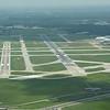 Runways 12L/30R and 12R/30L.  ATM Larsen hanger is in bottom right