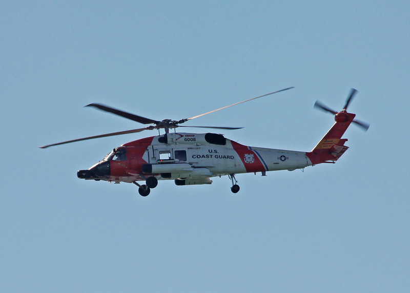6008 Sikorsky MH-60J Jayhawk (In-Flight over Holmes Beach FL) United States Coast Guard [Clearwater station] 5