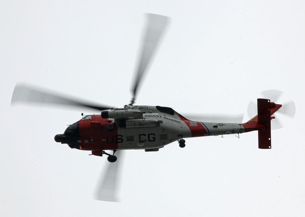 6011 sikorsky HH-60J Jayhawk (Inflight over Astoria, Oregon - USA) United States Coast Guard