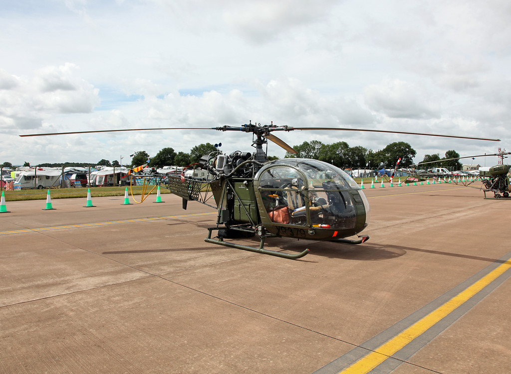 XR-379 Sud Aviation SE3130 Alouette AH2 (RAF Fairford) Army Air Corps (RIAT 2010)