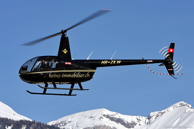 HB-ZKW R44 Raven II Heinz Immobilier @ Sion Switzerland 23Jan10