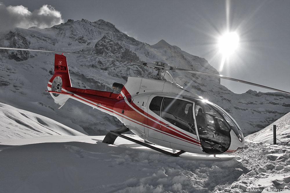 HB-ZEW EC130B4 Air Grischa @ Kleine Scheidegg Switzerland 13Jan08