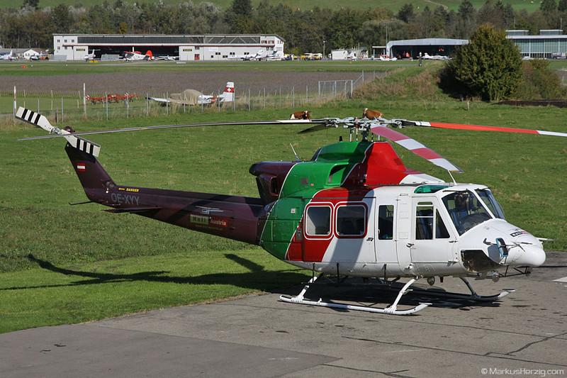 OE-XYY Bell 412HP Heli Austria @ Bern Switzerland 21Oct10