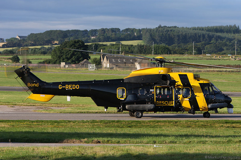 G-REDO AS332L2 Bond Rescue @ Aberdeen Scotland 5Aug08