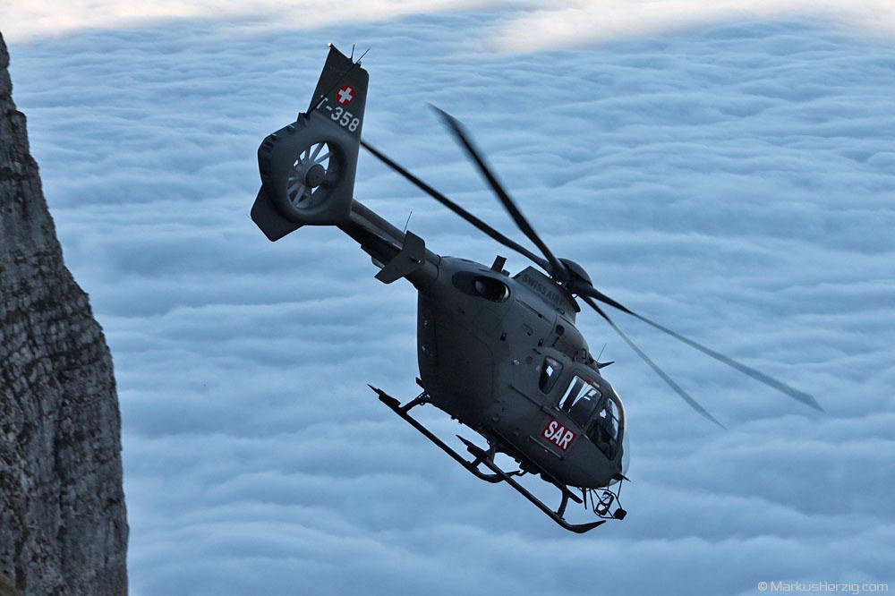 T-358 EC635P2 Swiss Air Force @ Axalp Switzerland 14Oct10
