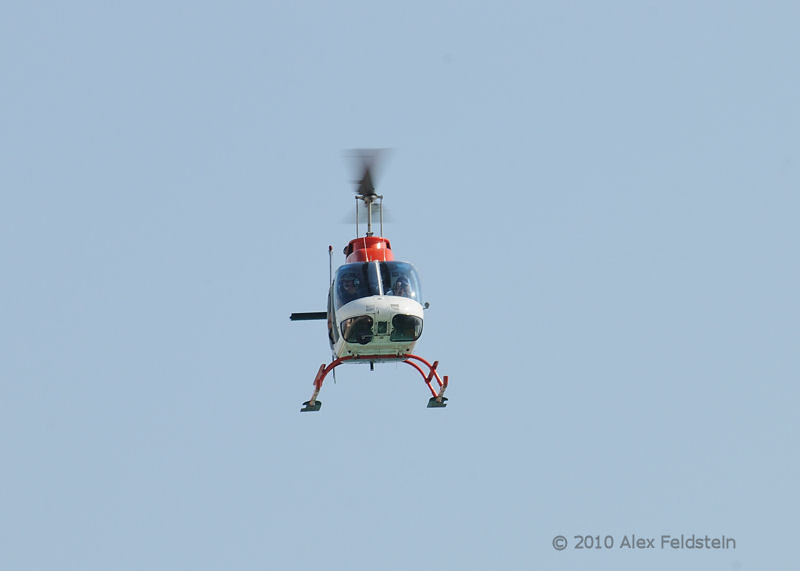 Bell 206B over the beach in Bal Harbour, FL