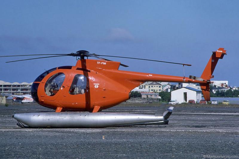 TF-FIM Hughes 369D Helicopter Service @ Reykjavik Iceland 26Jun87