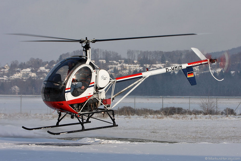 D-HMIM Schweizer 300C SP Luftbild @ Bern Switzerland 19Dec09