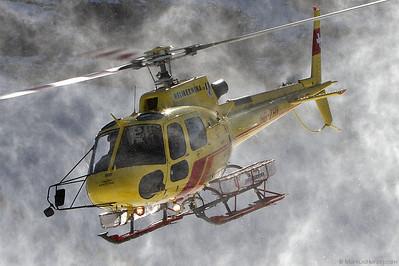 HB-ZHY AS350B3 Heli Bernina @ Lauberhorn Switzerland 14Jan12