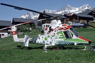 HB-XHJ K1200 K-Max Helog @ Sedrun Switzerland 20Jun95
