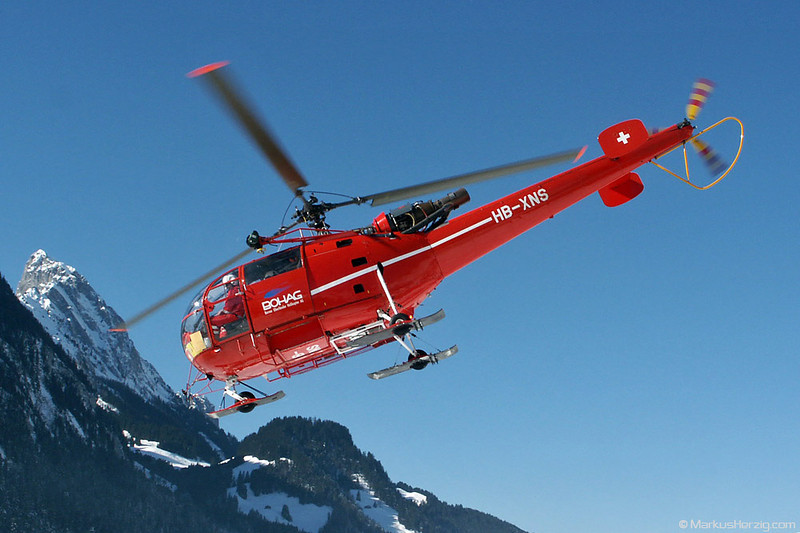 HB-XNS SA319B BOHAG @ Saanen Switzerland 22Feb03