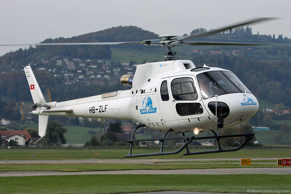 HB-ZLF AS350B3 Europavia Suisse @ Bern Switzerland 22Oct10