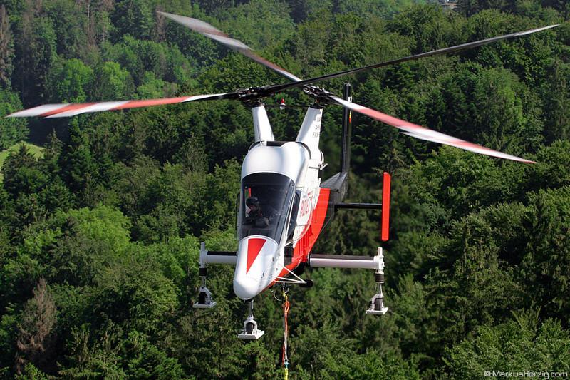 HB-ZGK K1200 K-Max Rotex Helicopters @ Bern-Bethlehem Switzerland 18Jun07