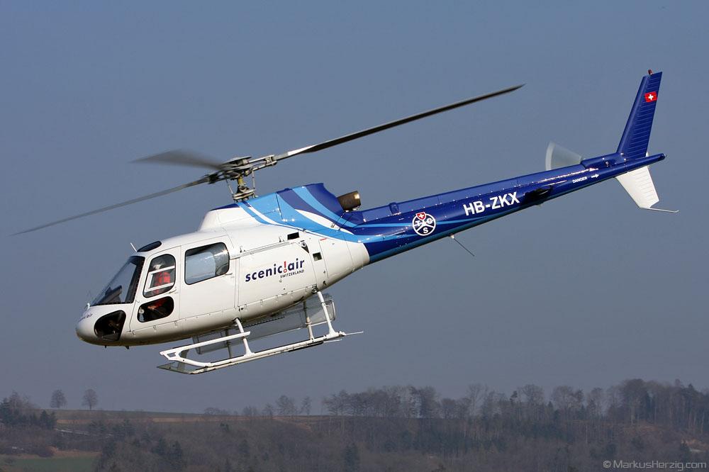 HB-ZKX AS350BA Scenic Air @ Bern Switzerland 12Mar10
