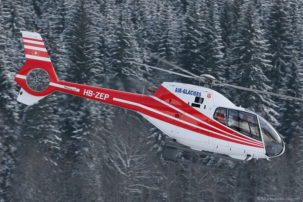 HB-ZEP EC120B Air Glaciers @ Saanen Switzerland 26Jan07