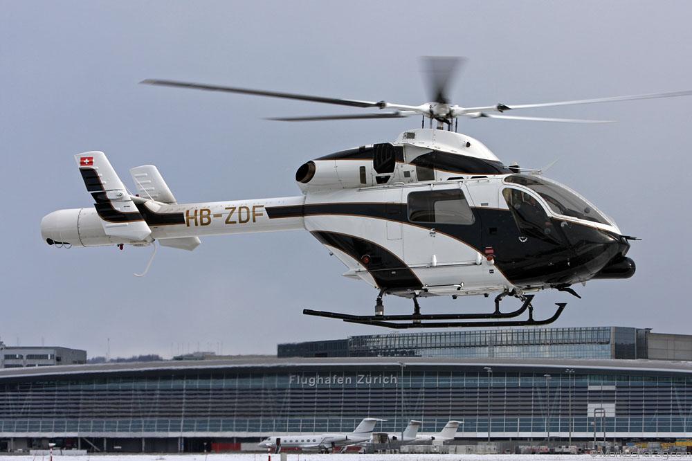 HB-ZDF MD902 Linth Air Service @ Zurich Switzerland 30Jan10