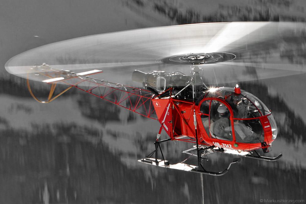 HB-ZHZ SA315B Air Glaciers @ Lauberhorn Switzerland 15Jan11