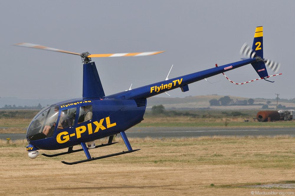 G-PIXL R44 Flying TV @ Caernarfon Wales 22Jul06