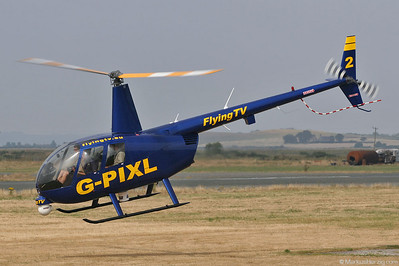 G-PIXL R44 Flying TV @ Caernarfon Wales 22Jul06