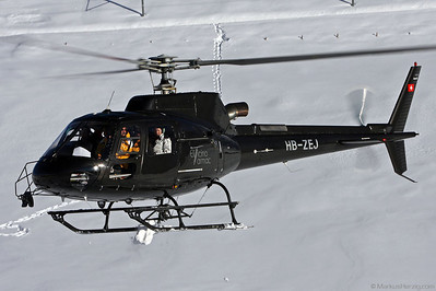 HB-ZEJ AS350B3 Eliticino-Tarmac @ Kleine Scheidegg Switzerland 13Jan08
