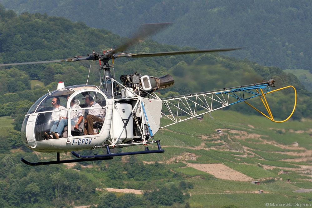 F-GPCV SE313B Private @ Bex Switzerland 18Jun05