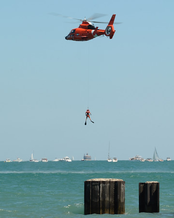 Helicopter - US Coast Guard Air & Sea Rescue - Chicago Air & Water Show - Chicago, Illinois - Photo Taken: August 21, 2011