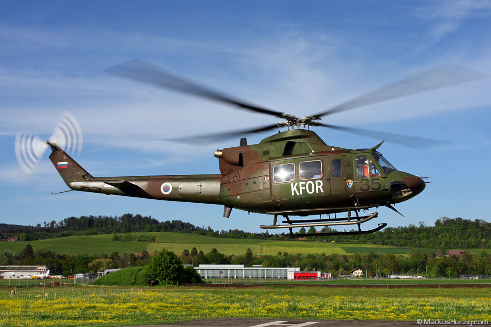 H2-35 Bell 412EP Slovenian Air Force @ Bern Switzerland 7May09