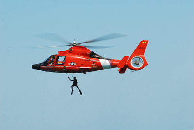 US Coast Guard Helicopter - Chicago Air & Water Show - Chicago, Illinois - Photo Taken: August 15, 2010