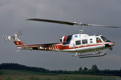 HB-XKH Bell 214B-1 Finet France @ Bern Switzerland 9Jul92 - cabin of F-GFUT