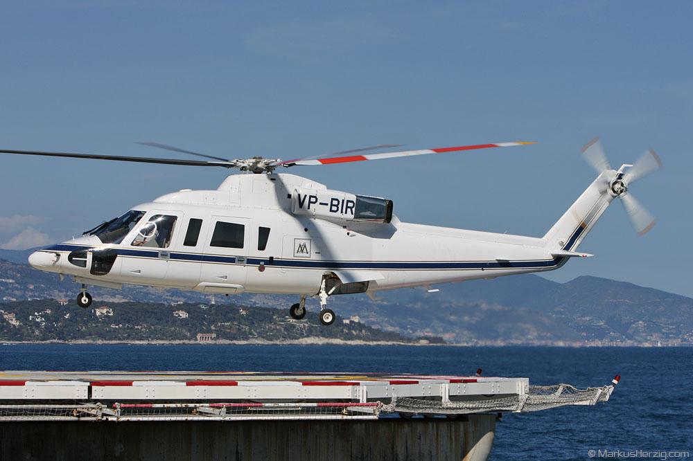VP-BIR S-76B Air Hanson @ Monaco 1May08