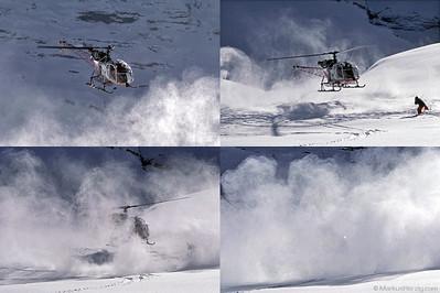 HB-XJN SA315B Air Glaciers @ Lauberhorn Switzerland 17Jan98