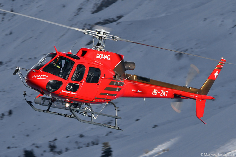 HB-ZKT AS350B3 Bohag @ Kleine Scheidegg Switzerland 14Jan12