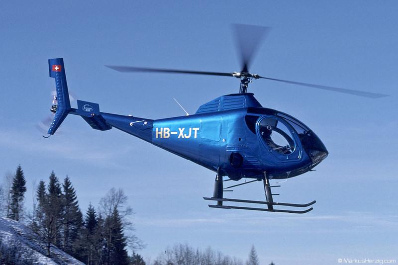 HB-XJT S330 Fuchs Helikopter @ Schindellegi Switzerland 11Feb98