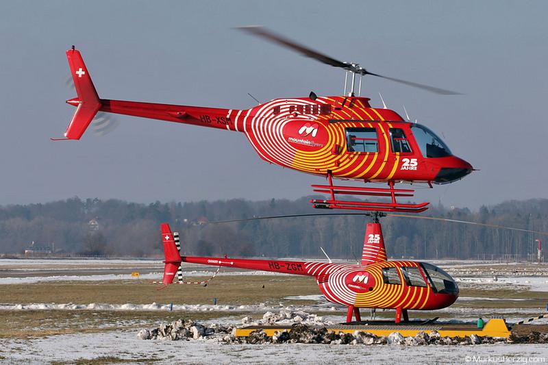 HB-XSM Agusta-Bell 206B Mountain Flyers @ Bern Switzerland 5Jan06