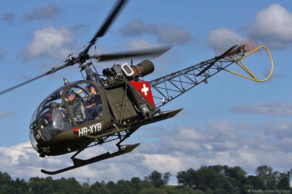 HB-XYB SE3130 Alouette Swiss AG @ Bern Switzerland 19Jun11
